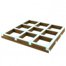 Подиум квадратный для поддона 1000х1000х50